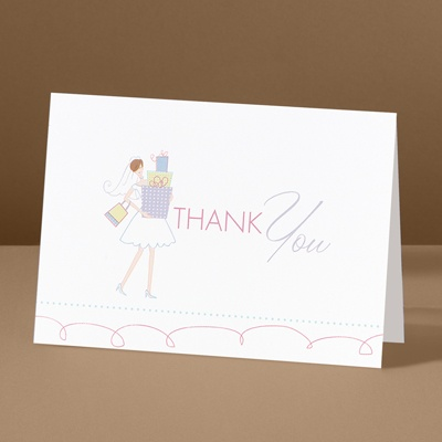 All Set - Bridal Shower Thank You Card