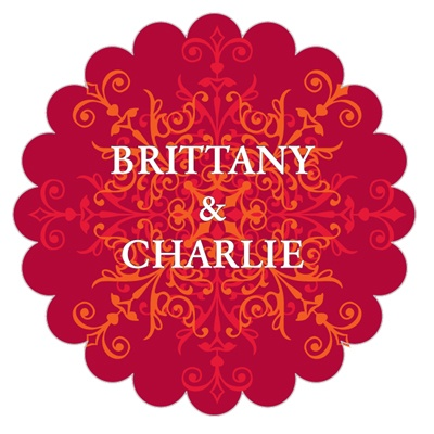 Scalloped Favor Labels - Scarlet