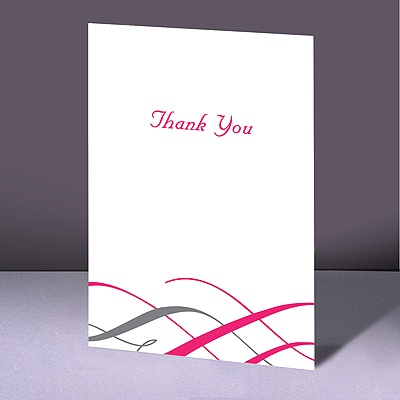 Swirls of Color - Lipstick - Thank You Card and Envelope