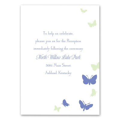 Butterflies in Flight - Hydrangea - Reception Card
