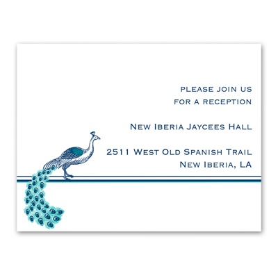 Posh Peacock - Reception Card