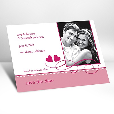 Lipstick Two Hearts - Photo Save the Date