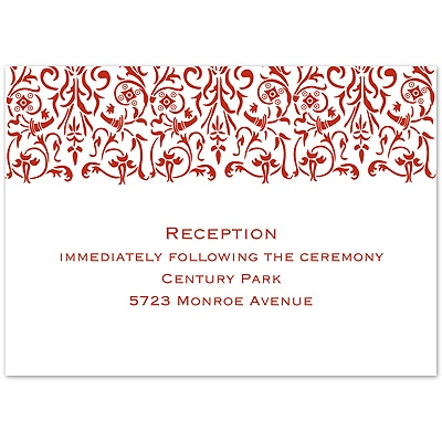 Scarlet Love Photo - Reception Card