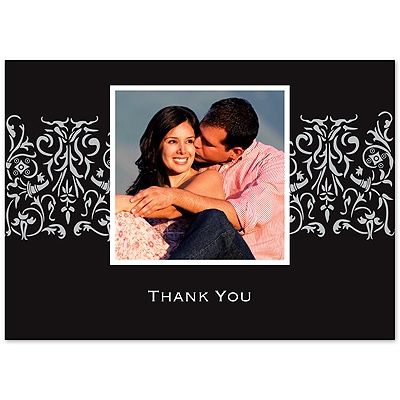 Ebony Love - Photo Thank You Card and Envelope
