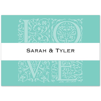 Lagoon Love Photo - Note Card and Envelope