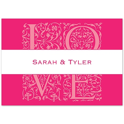 Lipstick Love Photo - Note Card and Envelope