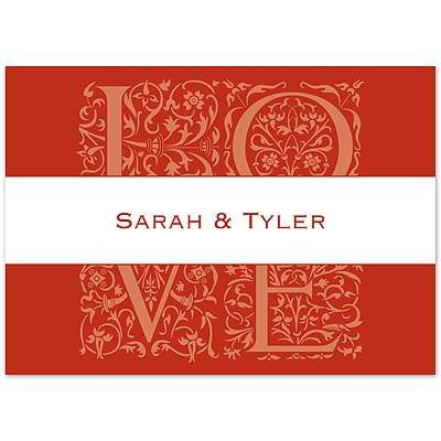 Scarlet Love Photo - Note Card and Envelope
