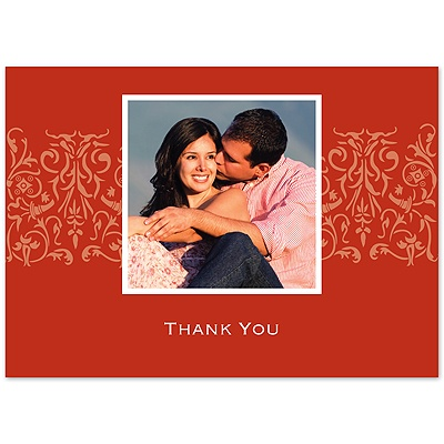 Scarlet Love - Photo Thank You Card and Envelope