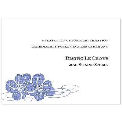 Hydrangea Pair of Flowers - Reception Card