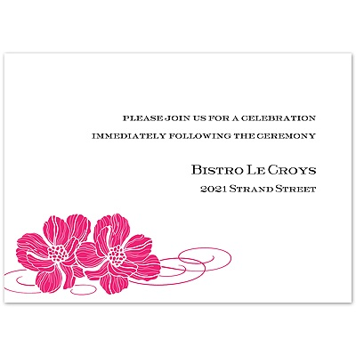 Lipstick Pair of Flowers - Reception Card