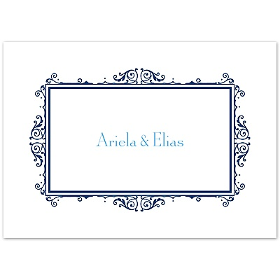 Eclipse Flourish Frame - Note Card and Envelope