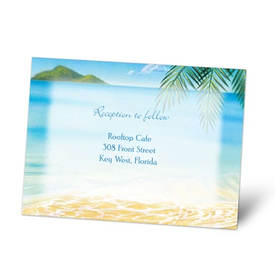 Ocean View - Reception Card