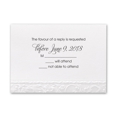 Elegant Filigree - Response Card and Envelope