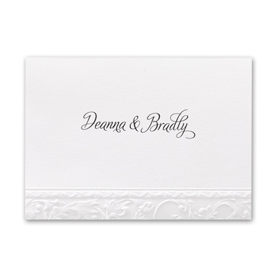 Elegant Filigree - Note Card and Envelope