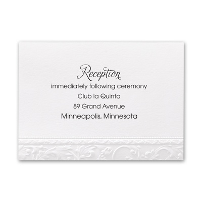 Elegant Filigree - Reception Card