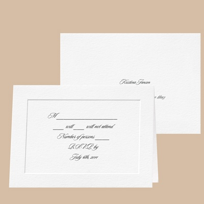 Bright White - Response Card and Envelope