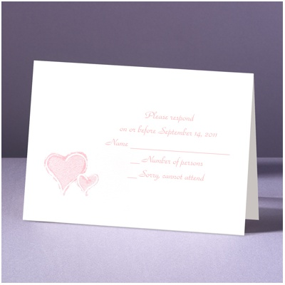 Stylized Perfection - Heart - Response Card and Envelope