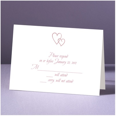 Contemporary Hearts - Response Card and Envelope