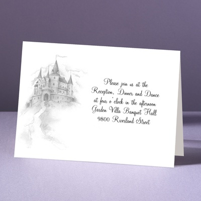 Happily Ever After - Reception Card