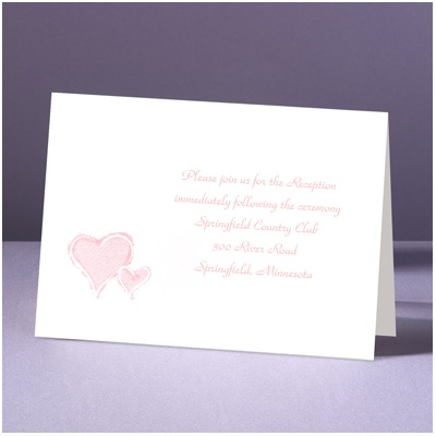 Stylized Perfection - Heart - Reception Card