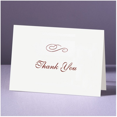 Plainly White - Thank You Card And Envelope