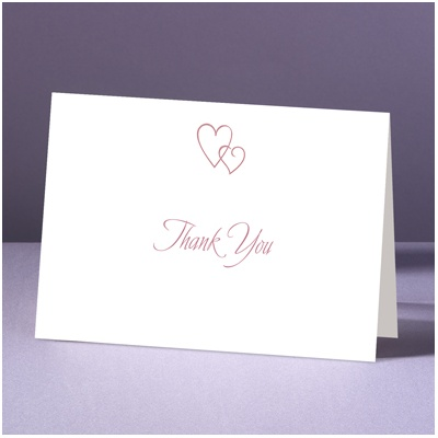 Contemporary Hearts - Thank You Card and Envelope