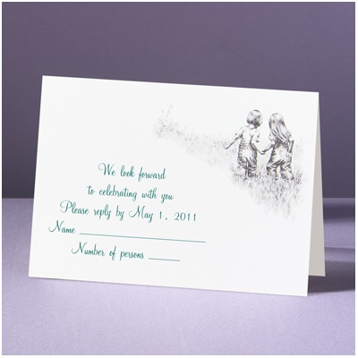 Childhood Friends - Response Card and Envelope