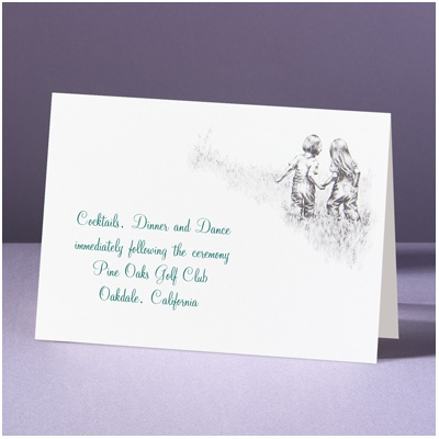 Childhood Friends - Reception Card
