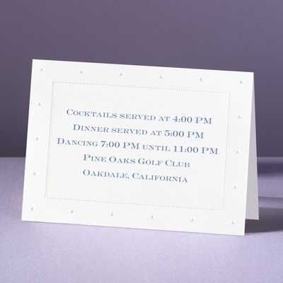 On The Dot! - Reception Card