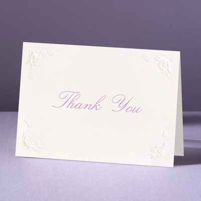This Day Forward in Ecru - Thank You Card and Envelope
