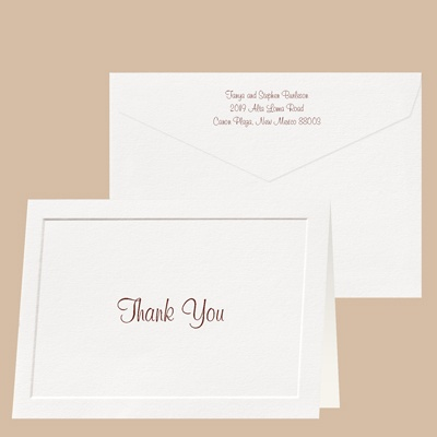Taste of Tradition - Thank You Card and Envelope