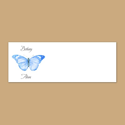 Butterfly in Blue - Print Your Own Mailing Label