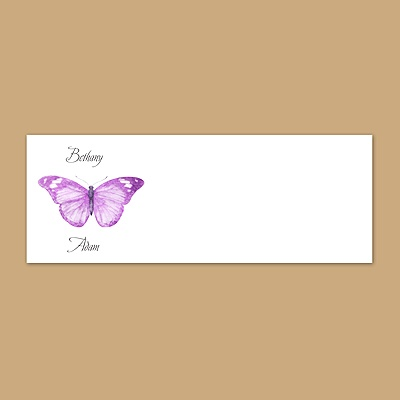 Butterfly in Grapevine - Print Your Own Mailing Label