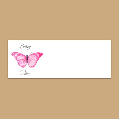 Butterfly in Lipstick - Print Your Own Mailing Label