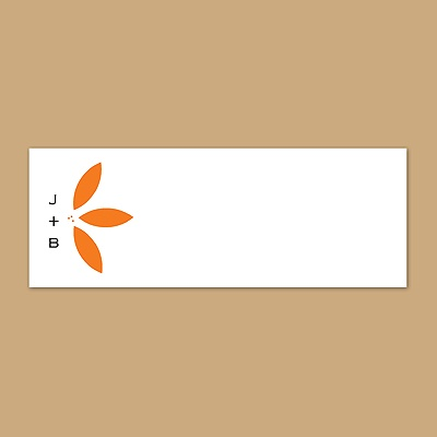 Floral Delight - Tangerine - Print Your Own Mailing Label