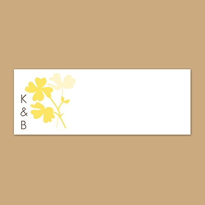 Floral Shadow - Canary - Print Your Own Mailing Label