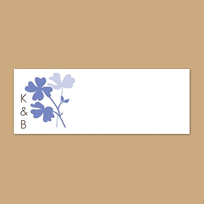 Floral Shadow - Hydrangea - Print Your Own Mailing Label