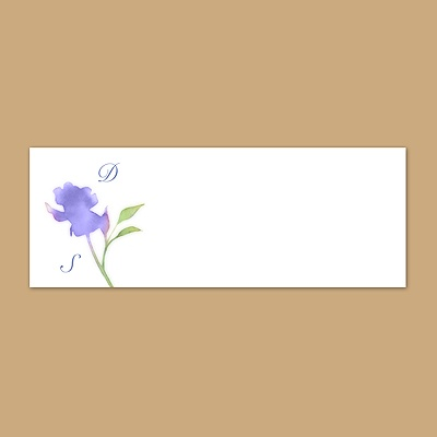 Watercolor Roses - Hydrangea - Print Your Own Mailing Label