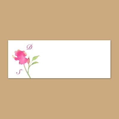 Watercolor Roses - Lipstick - Print Your Own Mailing Label