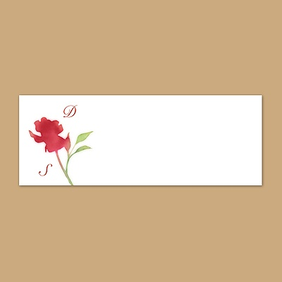 Watercolor Roses - Scarlet - Print Your Own Mailing Label