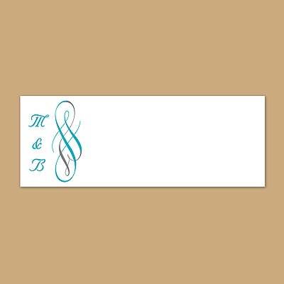 Swirls of Color - Palm - Print Your Own Mailing Label