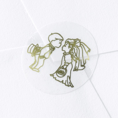 Sweetheart Couple Gold Foil Seal