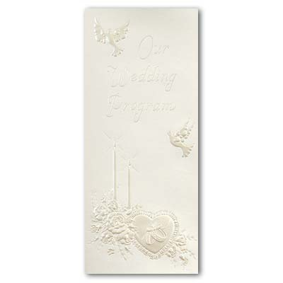 Doves Wedding Program - Blank