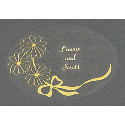 Gold Foil Personalized Daisy Seal