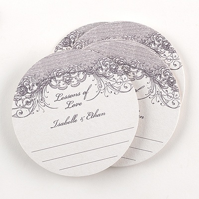 Vintage Flourish Advice Coaster