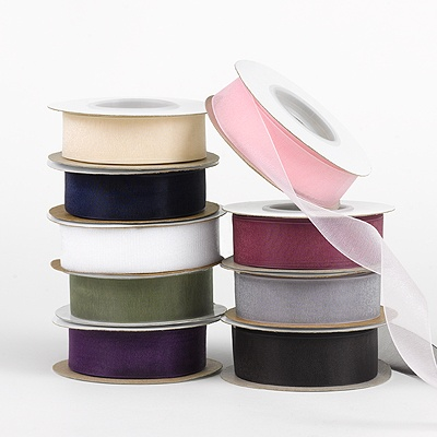 Blank Colored Chiffon Ribbon