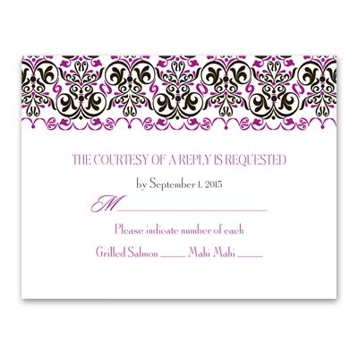 Filigree Whimsy - Response Card and Envelope