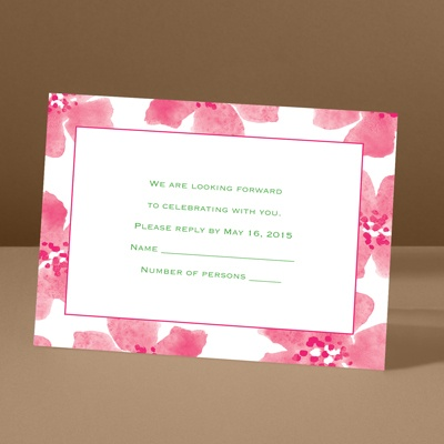 Soft and Sweet - Lipstick - Response Card and Envelope