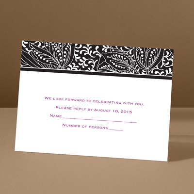Blossoming Beauty - Ebony - Response Card and Envelope