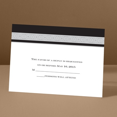 Band of Silver - Ebony - Response Card and Envelope